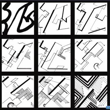 黑白置换图形创意设计