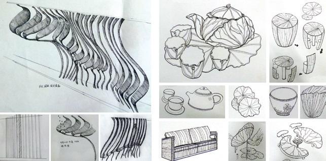 设计素描教案ppt 设计素描 婚纱设计手稿素描图 婚纱设计手