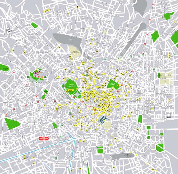 米兰地图中文版;