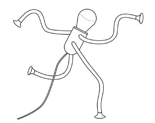 灯具,模拟昆虫肢体活动结构