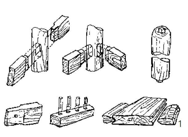 传统木工榫卯结构图手绘